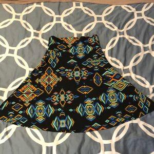 S LulaRoe Azure Skirt Aztec Print